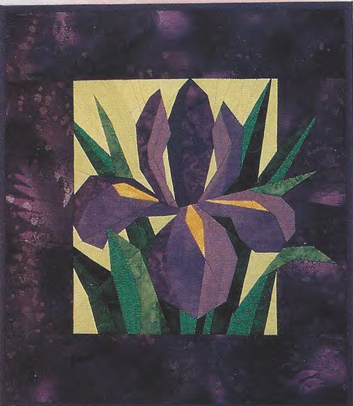 Dutch Iris Paper Piecing Pattern Quilt Block