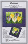 Crocus Paper Piecing Pattern Front Cover