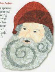 St. Nick Ornament Paper Piecing Pattern