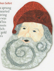 St. Nick Ornament Paper Piecing Pattern