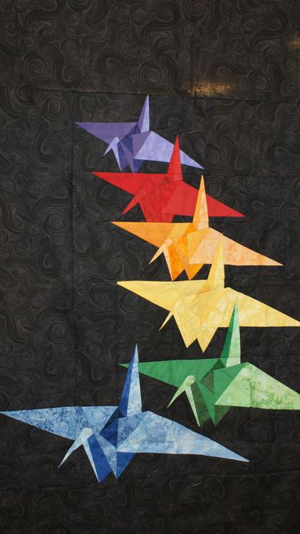 Paper Cranes Paper Piecing Quilt