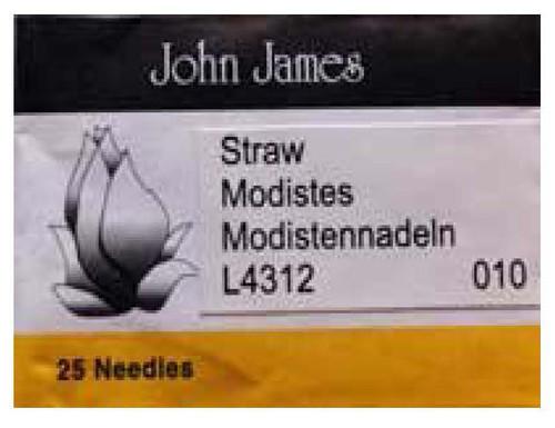 John James Milliners/Straw Needles