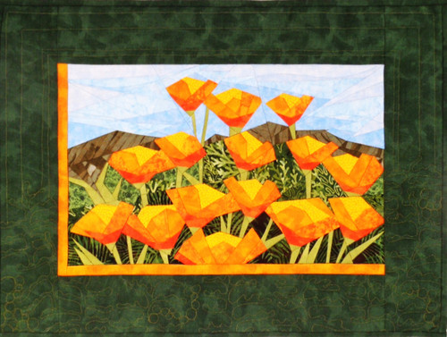California Poppies - Foundation Paper Piecing Pattern