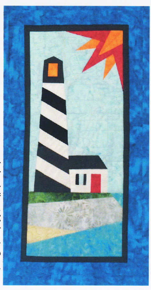Coastal Lighthouse Foundation Paper Piecing Pattern 16