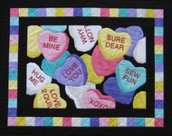 Candy Hearts Picture Piecing Quilt
