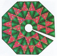 Diamond Log Cabin Tree Skirt Paper Piecing Quilt