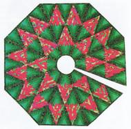 Diamond Log Cabin Tree Skirt Paper Piecing Quilt