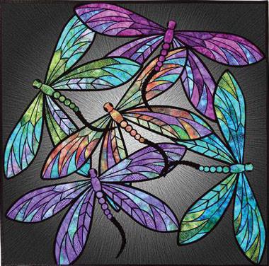 Dance of the Dragonflies Applique Quilt