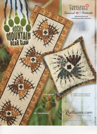 Rocky Mountain Bear Claw Paper Piecing Table Runner and Pillows Front Cover