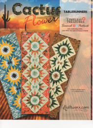 Cactus Flower Paper Piecing Table Runners Front Cover