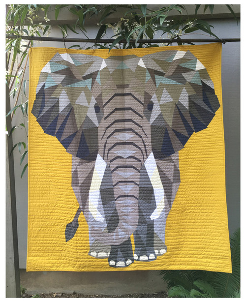 The Elephant Abstractions Quilt Foundation Paper Piecing Pattern Quilt