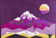 The Elevated Abstractions: Mt. Hood Quilt Foundation Paper Piecing Quilt