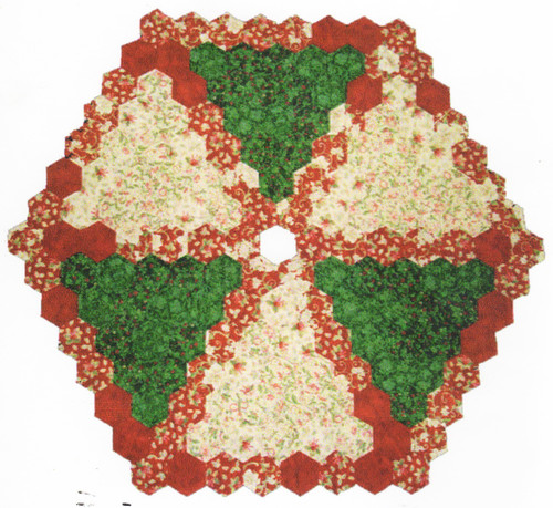 Hexagon Tree Skirt English Paper Piecing