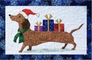 Santa Pooch Picture Piecing Pattern Quilt