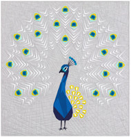 The Peacock Abstractions Foundation Paper Piecing Quilt View A Option
