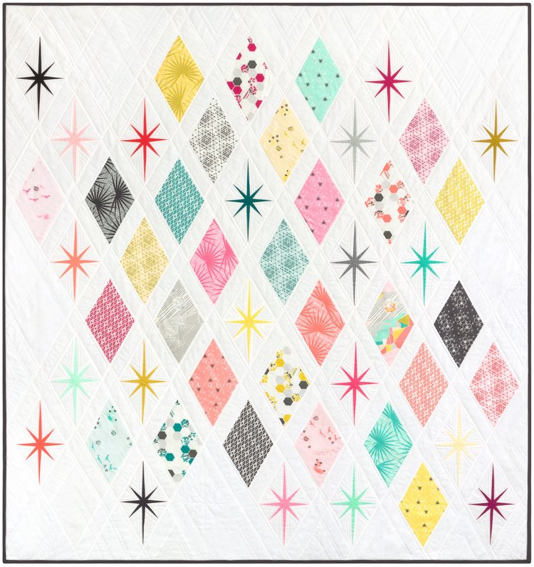 The Atomic Starburst Quilt Foundation Paper Piecing Pattern 62