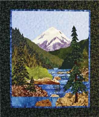 Mountain Stream Applique Art Quilt