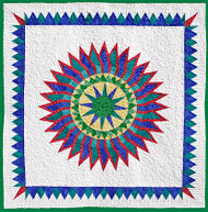 Blue Lagoon Foundation Paper Piecing Quilt