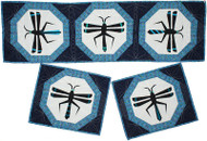 Mimbres Dragonfly Foundation Paper Piecing Placemats & Tablerunner