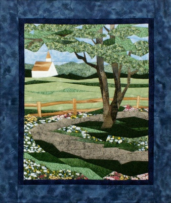 Country Road Picture Piecing Quilt Block