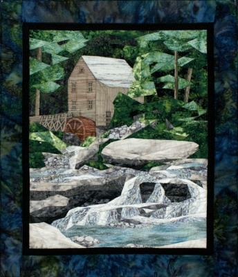 Old Grist Mill New Form Of Foundation Paper Piecing Picture Piecing Pattern 17 X 19 Quilt Block