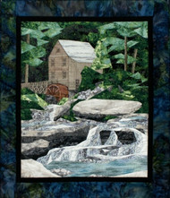 Old Grist Mill Picture Piecing Quilt Block