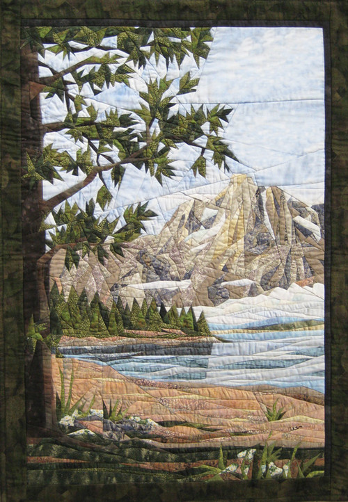 Teton Mountains Picture Piecing Quilt Block