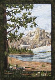 Teton Mountains Picture Piecing Quilt Block