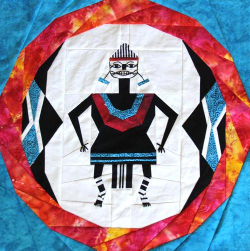 Mimbres Woman Foundation Paper Pieced Quilt Block