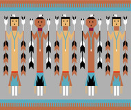 Navajo Yei Figures Foundation Paper Pieced Quilts - Multi Figure Quilt