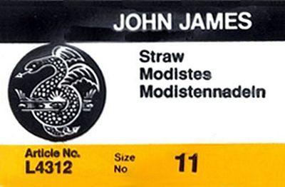 John James #011 Milliners/Straw Hand Needles