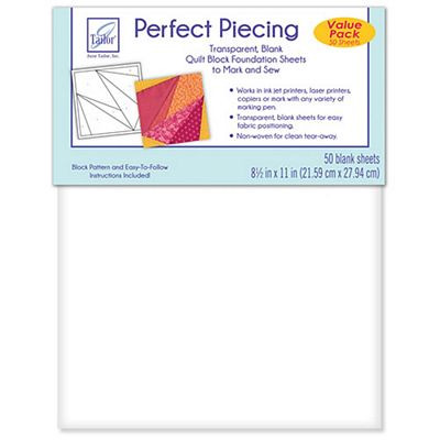 Perfect Piecing Foundation Sheets 50 Ct PKG