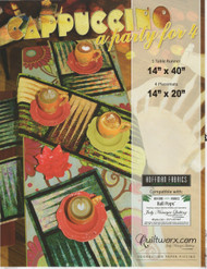 Cappuccino: A Party For 4 - Foundation Paper Piecing Placemats & Table Runner Front Cover