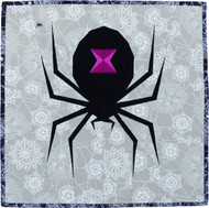Spooky Spider Foundation Paper Pieced Quilt Example