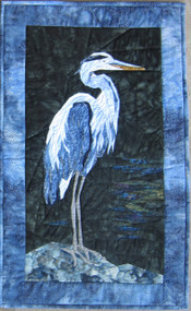 Blue Heron Picture Piecing Quilt