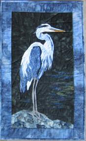 Blue Heron Picture Piecing Quilt