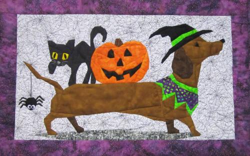 Halloweenie Picture Piecing Quilt