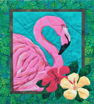 Flamingo Picture Piecing Quilt