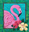 Flamingo Picture Piecing Quilt