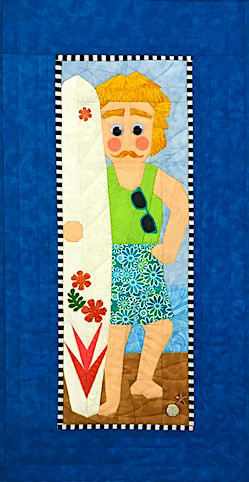 Surfer Dude Foundation Paper Piecing Pattern Quilt