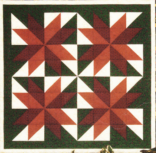 Thimbleberries Poinsettia Wall Strip Pieced Quilt