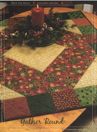 Thimbleberries Gather 'Round Tablecloth Strip Pieced Quilt
