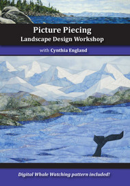 Picture Piecing - Landscape Design Workshop DVD by Cynthia England on her NEW Technique Front Cover