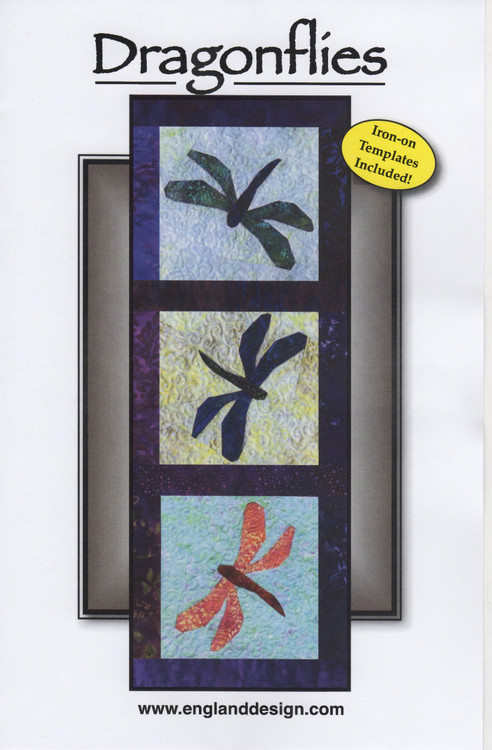Dragonflies - NEW Foundation Paper Piecing Pattern Front Cover