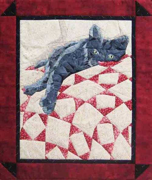Cat Nap - NEW Foundation Paper Piecing Method - (Picture Piecing) - Quilt