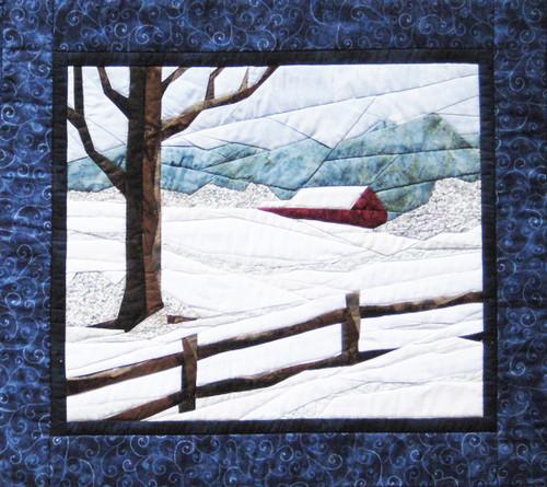 Snow Scene - NEW Foundation Paper Piecing Method - (Picture Piecing) - Quilt