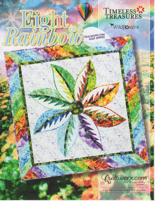 Eight in a Rainbow – Foundation Paper Piecing Pattern Front Cover