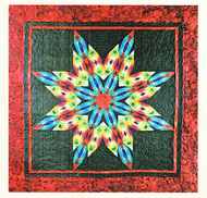 Technicolor Snowflake Foundation Paper Piecing Quilt