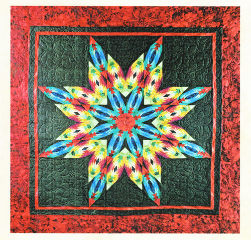 Technicolor Snowflake Foundation Paper Piecing Quilt