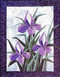 "Iris Garden - Foundation Paper Piecing Pattern - 23"" x 30"" Quilt Block -"